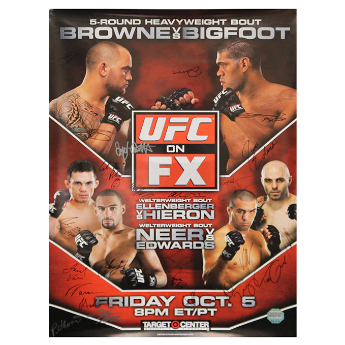 UFC on FX 5 - Minneapolis (Browne vs. Big Foot) Autographed Event Poster