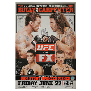 UFC on FX 4 - Atlantic City (Maynard vs. Guida) Autographed Event Poster