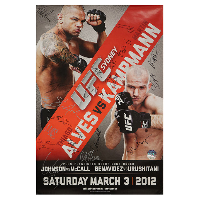 UFC on FX 2 - Sydney (Alves vs. Kampmann) Autographed Event Poster ...