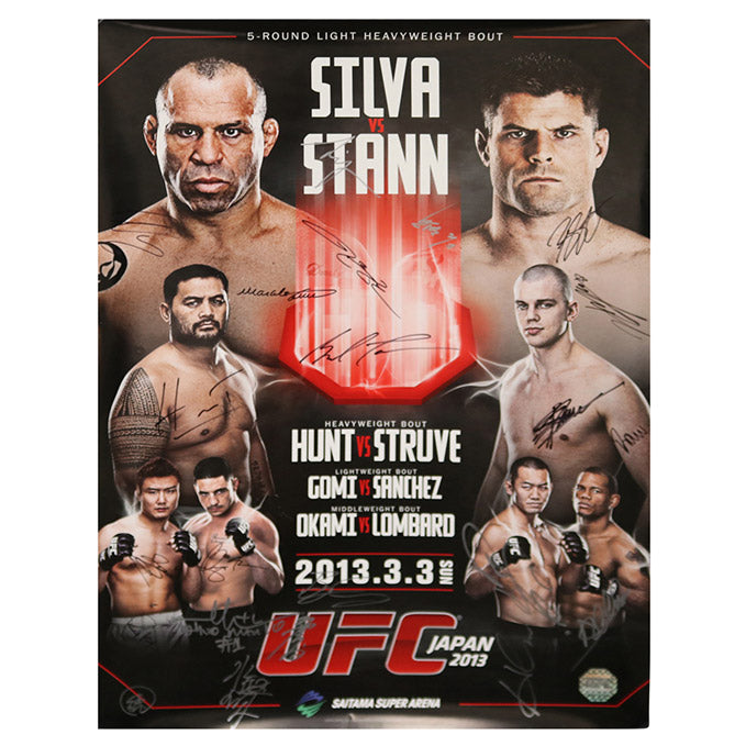 UFC on Fuel TV 8 - Saitama (Silva vs. Stann) Autographed Event Poster