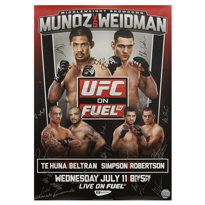 UFC on Fuel TV 4 - San Jose (Munoz vs. Weidman) Autographed Event Poster