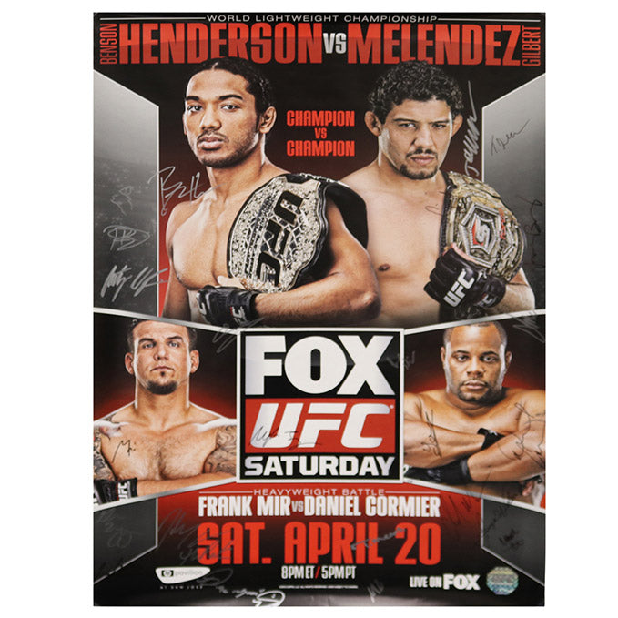 UFC on Fox 7 - San Jose (Henderson vs. Melendez) Autographed Event Poster