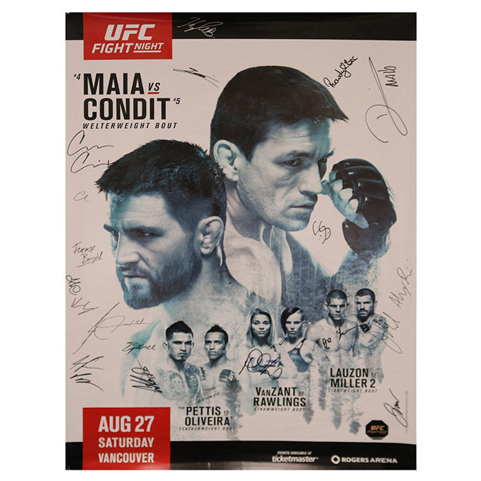 UFC on Fox 21 - Vancouver (Maia vs. Condit) Autographed Event Poster