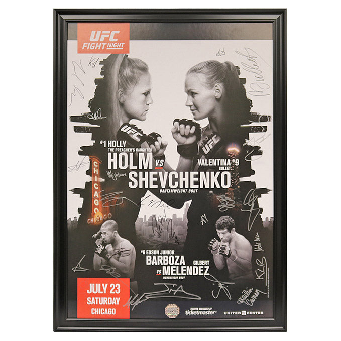 UFC on Fox 20 - Chicago (Holm vs. Shevchenko) Autographed Event Poster