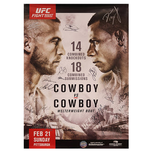 UFC Fight Night 83 - Pittsburgh (Cowboy vs. Cowboy) Autographed Event Poster