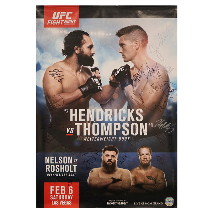 UFC Fight Night 82 - Las Vegas (Hendricks vs. Thompson) Autographed Event Poster
