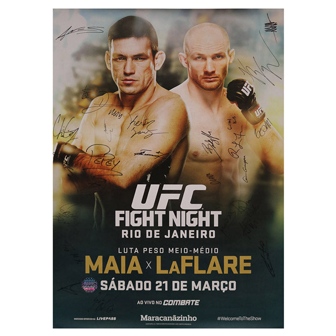 UFC Fight Night 62 - Rio do Janeiro (Maia vs. LaFlare) Autographed Event Poster