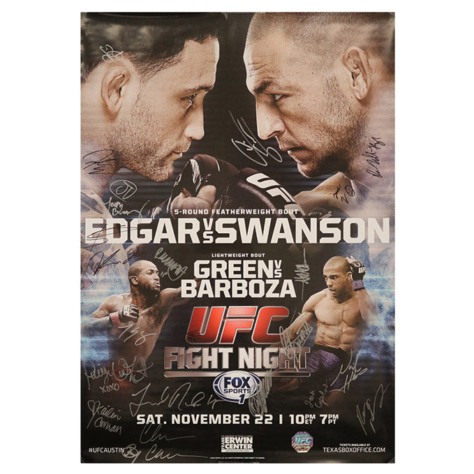 UFC Fight Night 57 - Austin (Edgar vs. Swanson) Autographed Event Poster