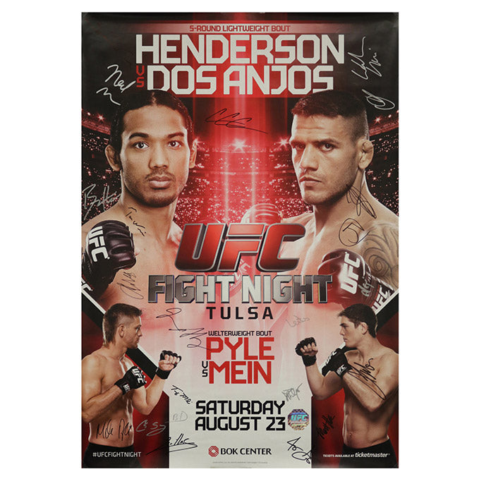 UFC Fight Night 49 - Tulsa (Henderson vs. dos Anjos) Autographed Event Poster