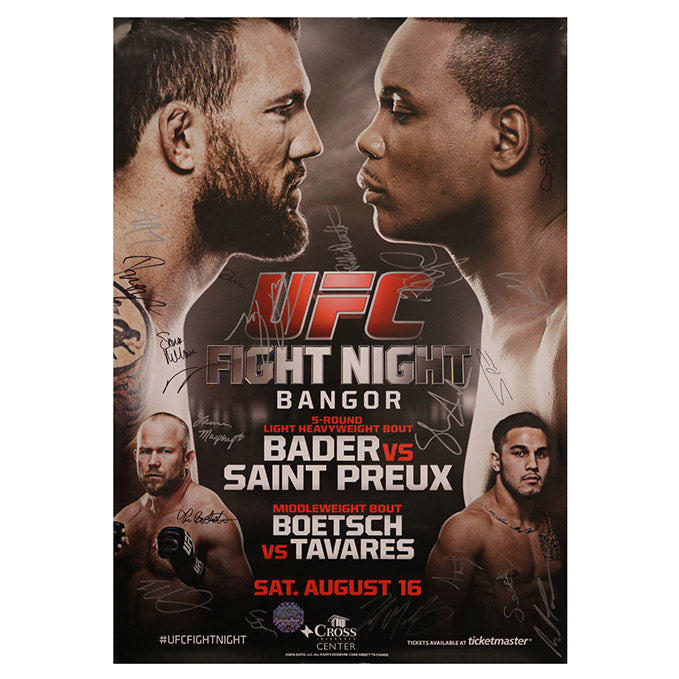 UFC Fight Night 47 - Bangor (Bader vs. Saint Preux) Autographed Event Poster