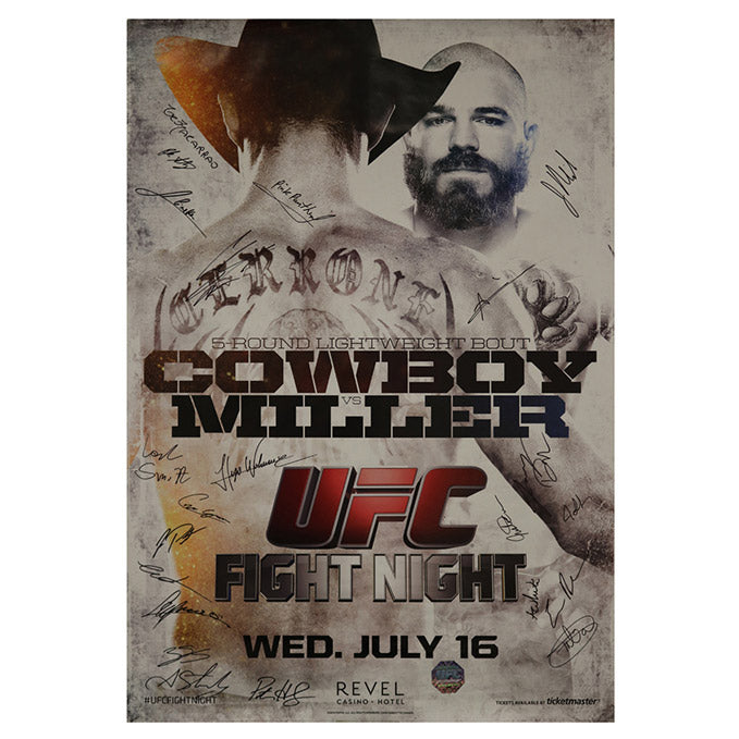 UFC Fight Night 45 - Atlantic City (Cowboy vs. Miller) Autographed Event Poster