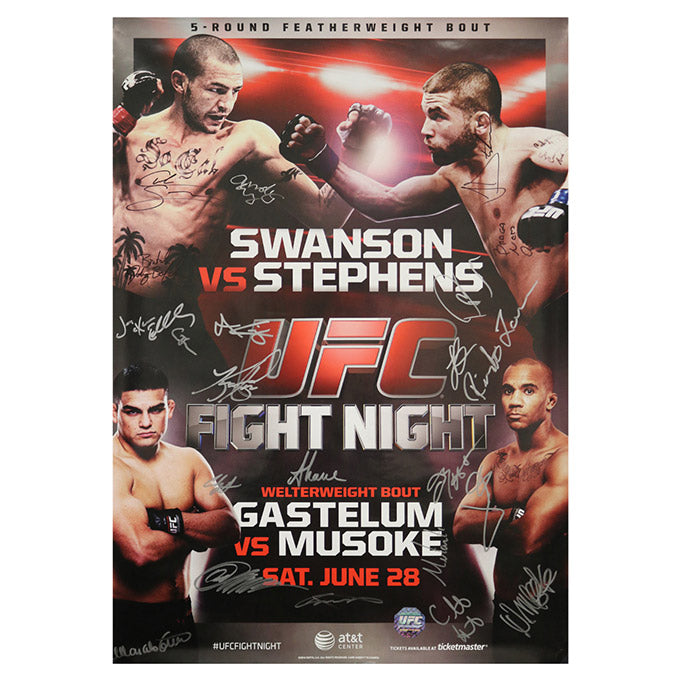 UFC Fight Night 44 - San Antonio (Swanson vs. Stephens) Autographed Event Poster