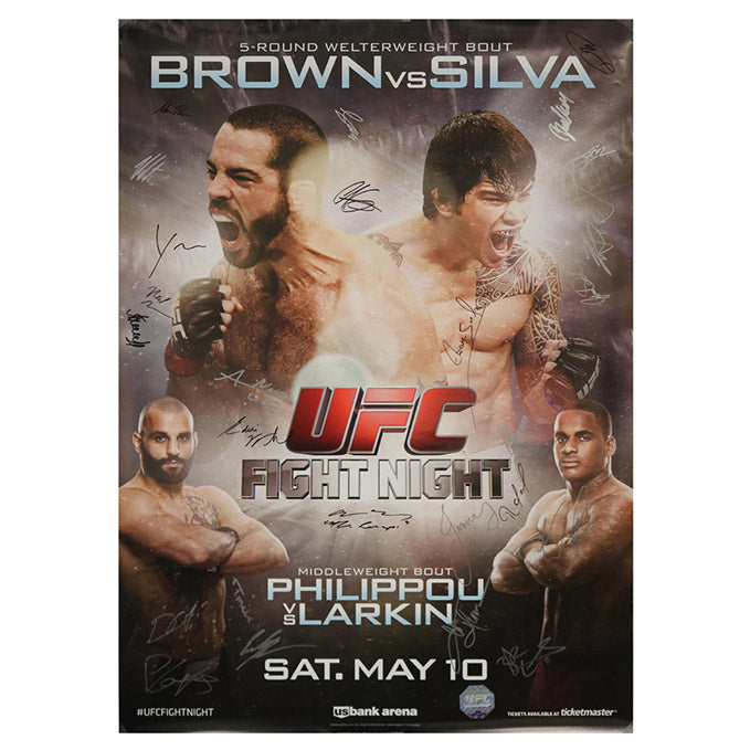 UFC Fight Night 40 - Cincinnati (Brown vs. Silva) Autographed Event Poster
