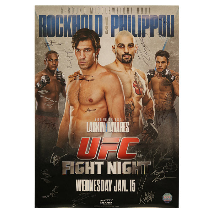 UFC Fight Night 35 - Duluth (Rockhold vs. Philippou) Autographed Event Poster