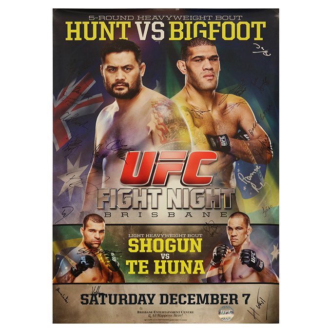 UFC Fight Night 33 - Brisbane (Hunt vs. Big Foot) Autographed Event Poster