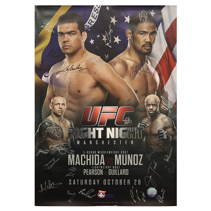 UFC Fight Night 30 - Manchester (Machida vs. Munoz) Autographed Event Poster