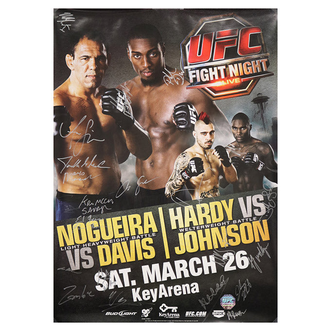 UFC Fight Night 24 - Seattle (Nogueira vs. Davis) Autographed Event Poster
