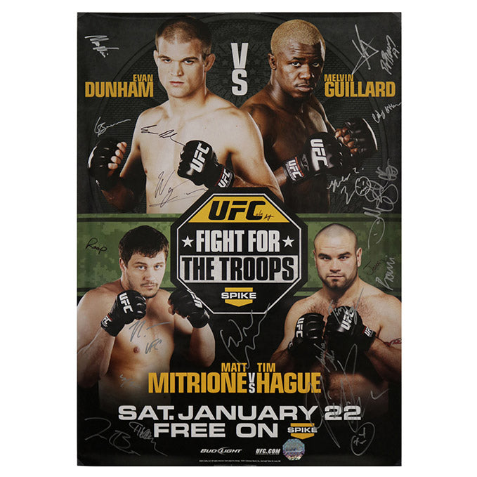 "UFC Fight Night 23 ""Fight for the Troops"" - Fort Hood (Guillard vs. Dunham) Autographed Event Poster"