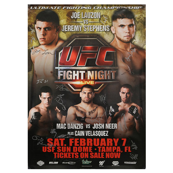 UFC Fight Night 17 - Tampa (Lauzon vs. Stephens) Autographed Event Poster