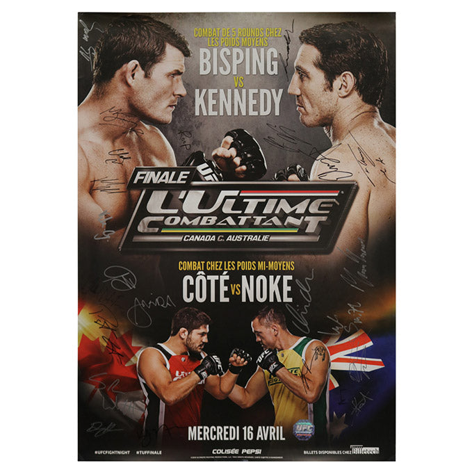 The Ultimate Fighter Nations Finale (Bisping vs. Kennedy) Autographed Event Poster