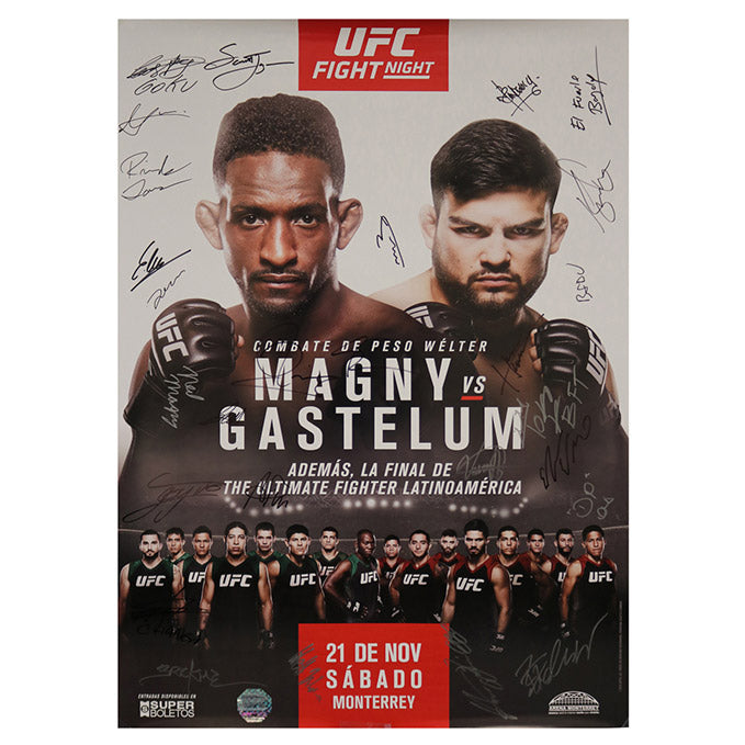 The Ultimate Fighter Latin America 2 Finale (Magny vs. Gastelum) Autographed Event Poster