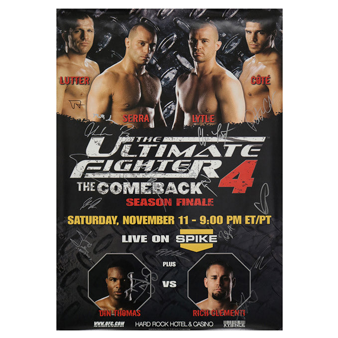 "The Ultimate Fighter 4 ""The Comeback"" Finale (Serra vs. Lytle) Autographed Event Poster"
