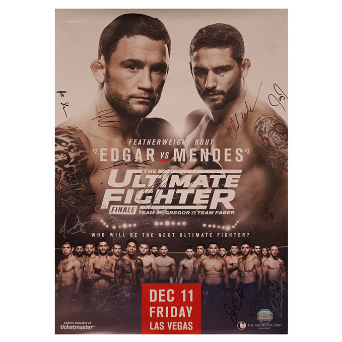 The Ultimate Fighter 22 Finale (Edgar vs. Mendes) Autographed Event Poster