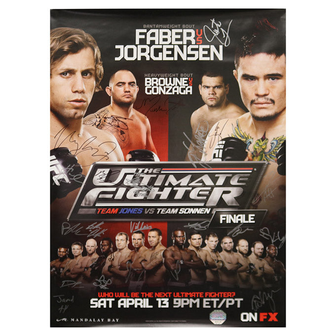 The Ultimate Fighter 17 Finale (Faber vs. Jorgensen) Autographed Event Poster