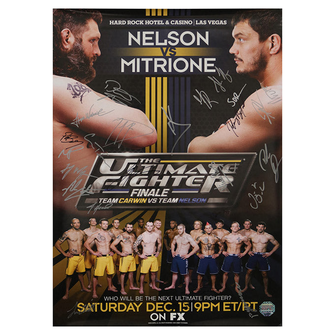 The Ultimate Fighter 16 Finale (Nelson vs. Mitrione) Autographed Event Poster