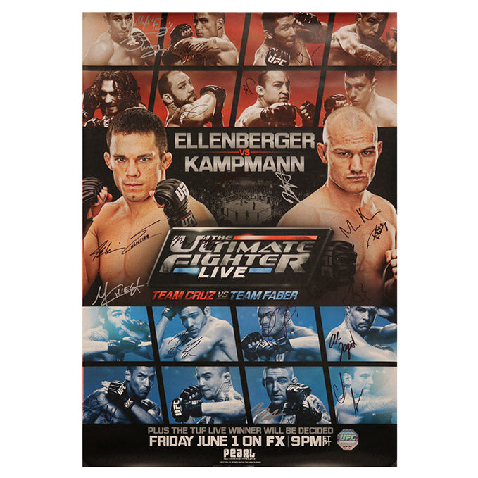 The Ultimate Fighter 15 Finale (Ellenberger vs. Kampmann) Autographed Event Poster