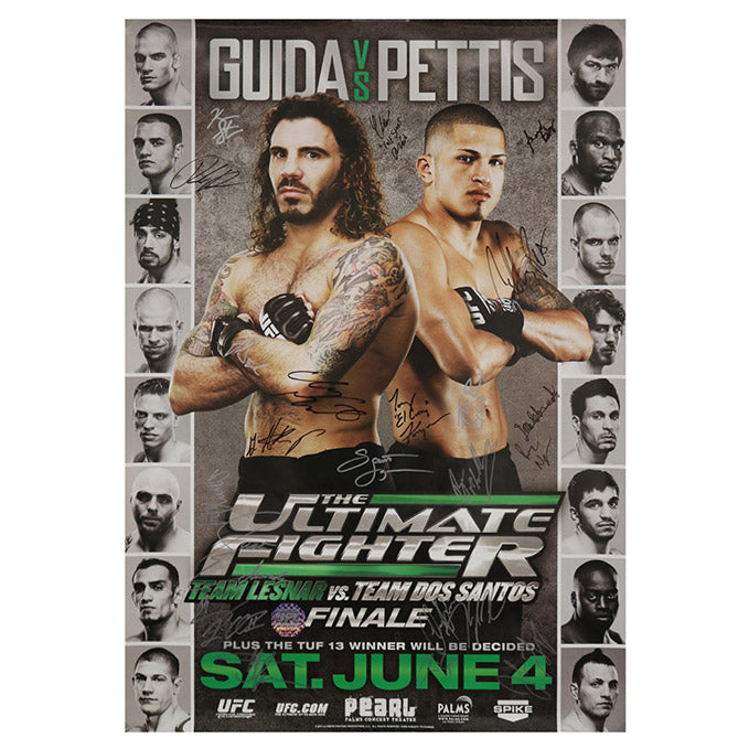 The Ultimate Fighter 13 Finale (Guida vs. Pettis) Autographed Event Poster