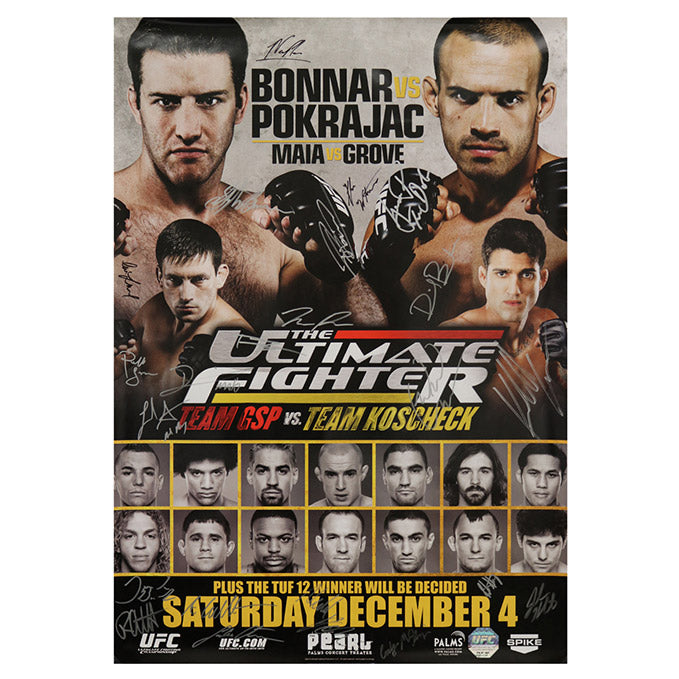 The Ultimate Fighter 12 Finale (Bonnar vs. Pokrajac) Autographed Event Poster