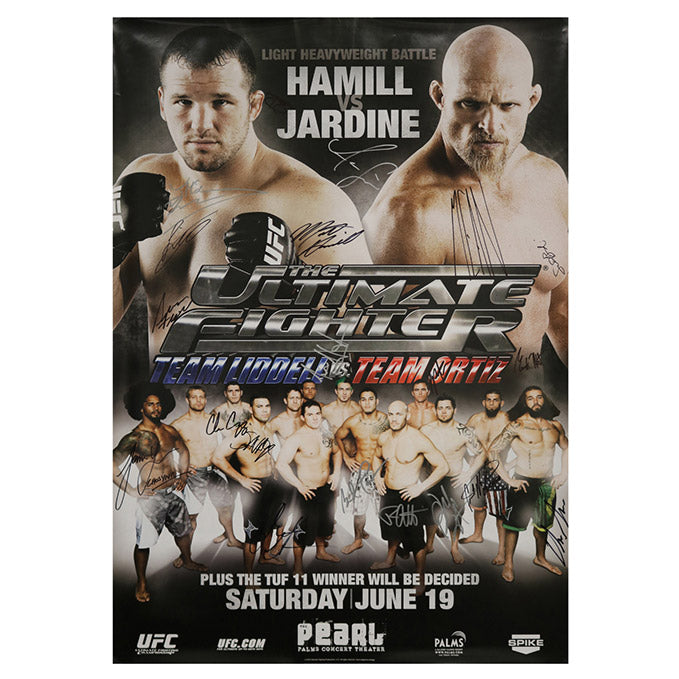 The Ultimate Fighter 11 Finale (Hamill vs. Jardine) Autographed Event Poster