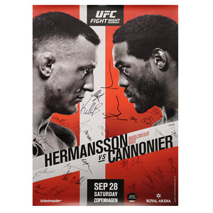 UFC Fight Night Copenhagen Autographed Event Poster