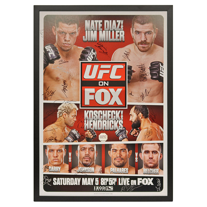 UFC on Fox 3: Diaz vs. Miller - Framed and Autographed Event Poster