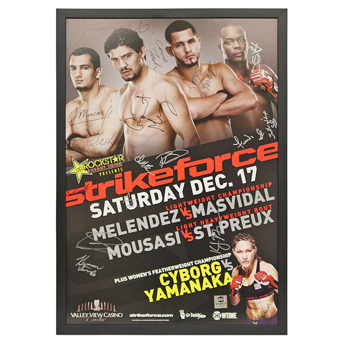 Strikeforce: Melendez vs. Masvidal - Framed and Autographed Event Poster