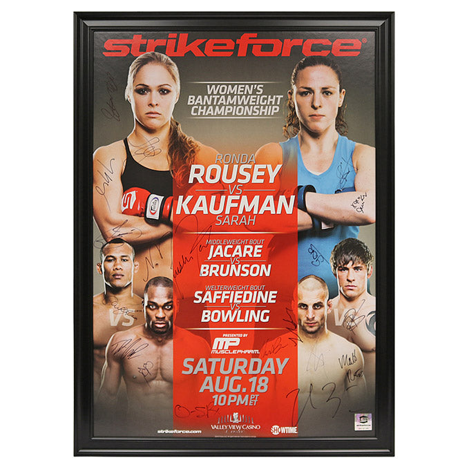 Strikeforce: Rousey vs. Kaufman - Framed and Autographed Event Poster