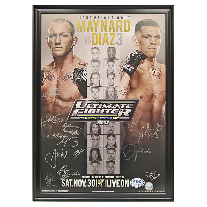 The Ultimate Fighter 18 Finale: Maynard vs. Diaz 3 - Framed and Autographed Event Poster