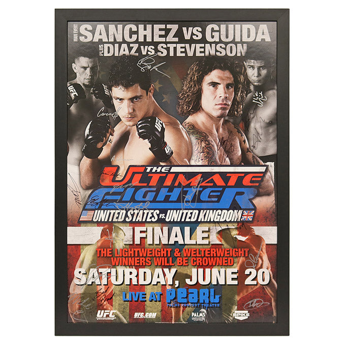 The Ultimate Fighter 9 Finale: Sanchez vs. Guida - Framed and Autographed Event Poster