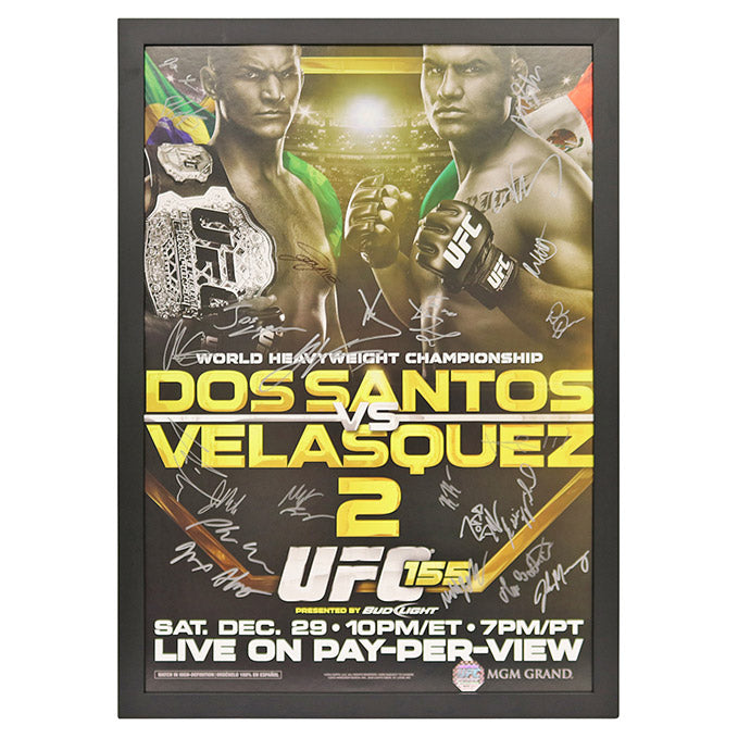 UFC 155: dos Santos vs. Velasquez 2 - Framed and Autographed Event Poster