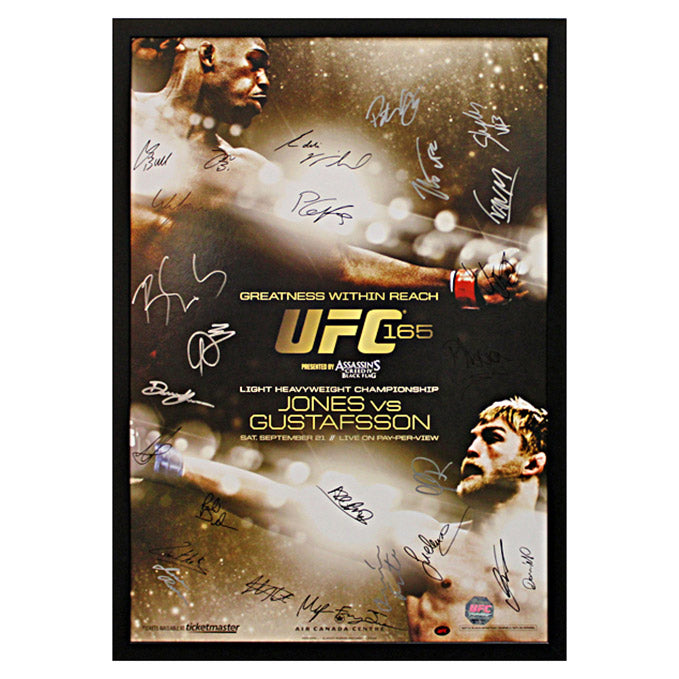 UFC 165: Jones vs. Gustafsson - Framed and Autographed Event Poster
