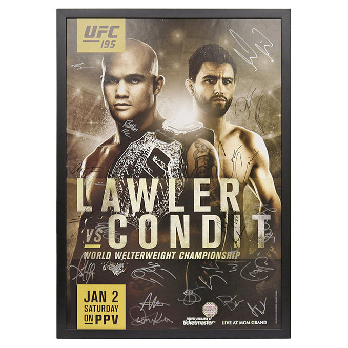 UFC 195: Lawler vs. Condit - Framed and Autographed Event Poster