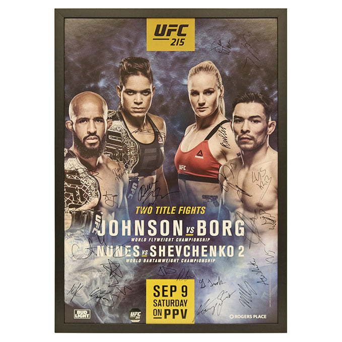 UFC 215: Nunes vs. Shevchenko 2 - Framed and Autographed Event Poster