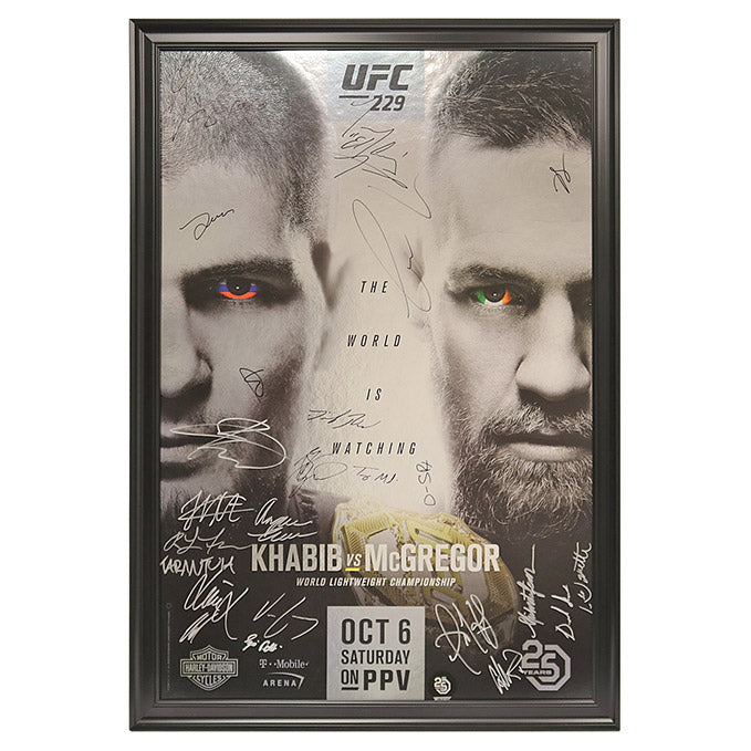 UFC 229: Khabib vs. McGregor - Framed and Autographed Event Poster
