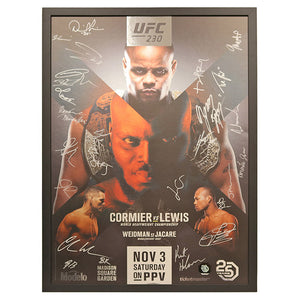 UFC 230: Cormier vs. Lewis - Framed and Autographed Event Poster
