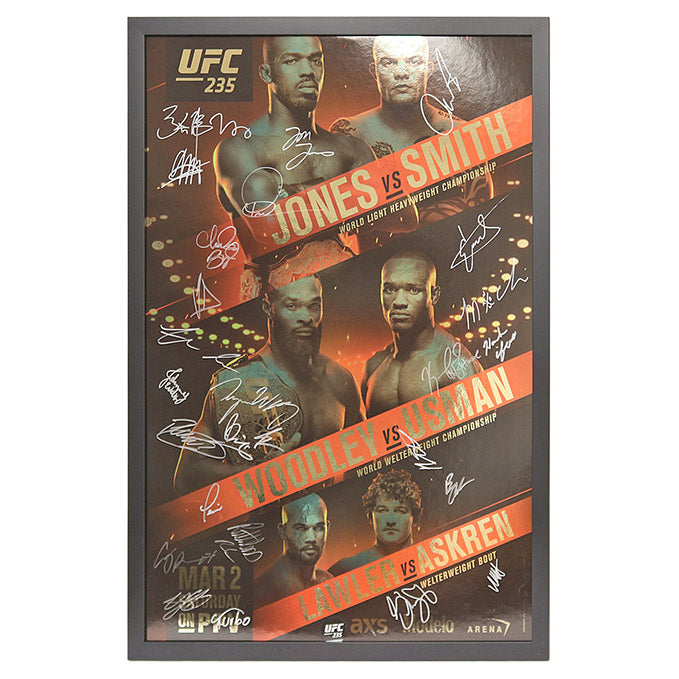 UFC 235: Jones vs. Smith - Framed and Autographed Event Poster