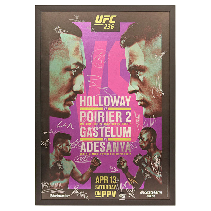 UFC 236: Holloway vs. Poirier 2 - Framed and Autographed Event Poster
