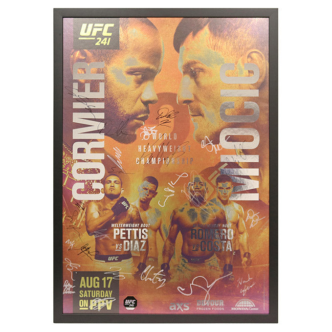 UFC 241: Cormier vs. Miocic 2 - Framed and Autographed Event Poster