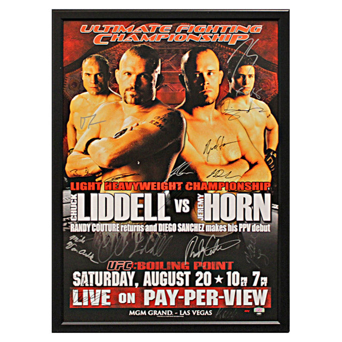 UFC 54: Boiling Point (Liddell vs. Horn) - Framed and Autographed Event Poster