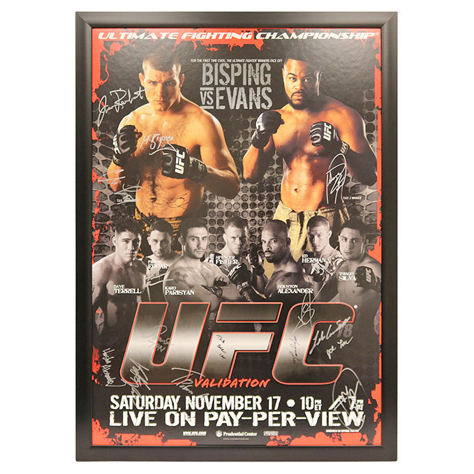 UFC 78: Validation (Bisping vs. Evans) - Framed and Autographed Event Poster